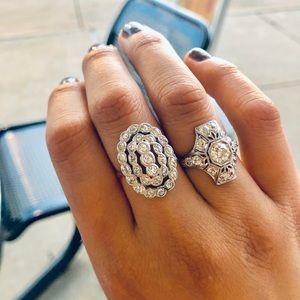 14k vintage old European cut diamond ring
